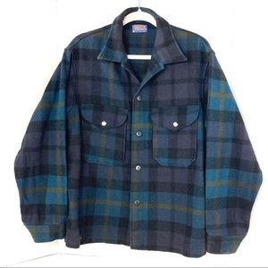 VINTAGE PENDLETON | Plaid Shirt Coat